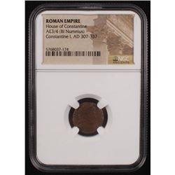Certified Roman Coin of Emperor Constantine I AD 307-337 AE3/4 (BI Nummus) - House of Constantine (N
