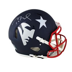 Tom Brady Signed Patriots Full-Size Authentic On-Field AMP Alternate Speed Helmet (TriStar Hologram)
