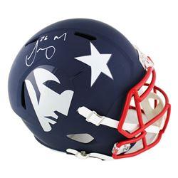 Sony Michel Signed Patriots Full-Size AMP Alternate Speed Helmet (Radtke COA)
