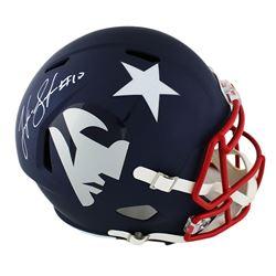 Josh Gordon Signed Patriots Full-Size AMP Alternate Speed Helmet (JSA COA)