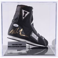 Mike Tyson Signed Title Boxing Shoe with Display Case (JSA COA)