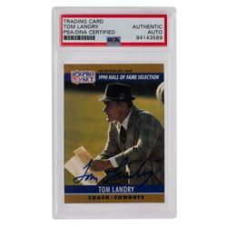Tom Landry Signed 1990 FACT Pro Set Cincinnati #28 (PSA Encapsulated)