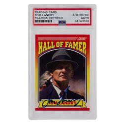 Tom Landry Signed 1990 Score #597 Hall of Fame (PSA Encapsulated)