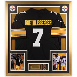 Ben Roethlisberger Steelers 32x36 Custom Framed Jersey Display with Super Bowl Pin