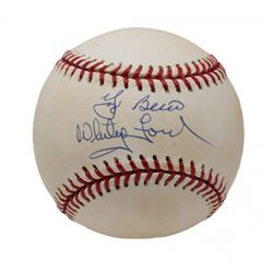 Yogi Berra  Whitey Ford Signed OAL Baseball (JSA COA)