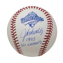 "John Smoltz Signed 1995 World Series Baseball Inscribed ""1995 WS Champs"" (JSA COA)"