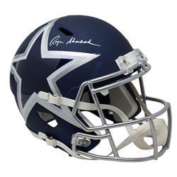 Roger Staubach Signed Cowboys Full-Size AMP Alternate Speed Helmet (Beckett COA)