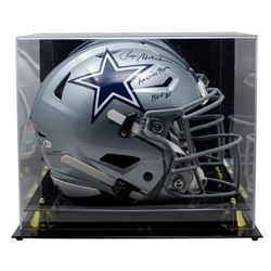 """Roger Staubach Signed Cowboys Full-Size Authentic On-Field SpeedFlex Helmet Inscribed """"HOF 85""""  """"Ame"""