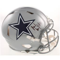 Michael Gallup Signed Cowboys Full-Size Authentic On-Field Speed Helmet (Beckett COA)
