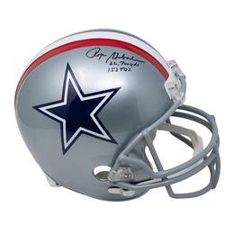 "Roger Staubach Signed 1976 Cowboys Full-Size Helmet Inscribed ""22,700 Yds""  ""153 TD's"" (Beckett COA)"
