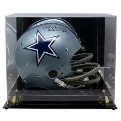 """Roger Staubach Signed Cowboys Full-Size Throwback Suspention Helmet Inscribed """"America's Team"""" (Beck"""