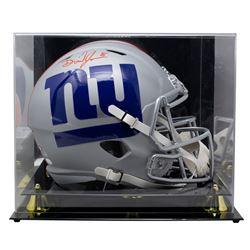 Daniel Jones Signed Giants Full-Size AMP Alternate Speed Helmet with High-Quality Display Case (JSA