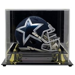 Roger Staubach Signed Cowboys AMP Alternate Speed Mini Helmet with High-Quality Display Case (Becket