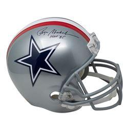 "Roger Staubach Signed 1976 Cowboys Full-Size Helmet Inscribed ""HOF '85"" (Beckett COA)"