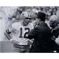Roger Staubach Signed Cowboys 16x20 Photo (Beckett COA)