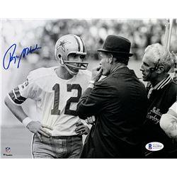 Roger Staubach Signed Cowboys 8x10 Photo (Beckett COA)