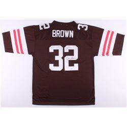 Jim Brown Signed Cleveland Browns Jersey (JSA COA)