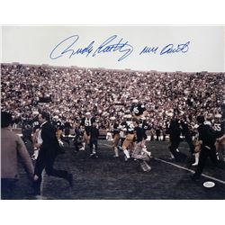 "Rudy Ruettiger Signed Notre Dame Fighting Irish 16x20 Photo Inscribed ""Never Quit"" (JSA COA)"
