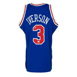 Allen Iverson Signed 1996-97 76ers Mitchell  Ness Jersey (JSA COA)