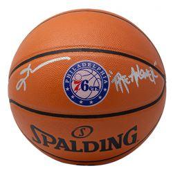"""Allen Iverson Signed 76ers Logo NBA Game Ball Series Basketball Inscribed """"The Answer"""" (JSA COA)"""