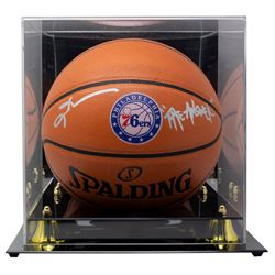 """Allen Iverson Signed 76ers Logo NBA Game Ball Series Basketball Inscribed """"The Answer"""" With High-Qua"""
