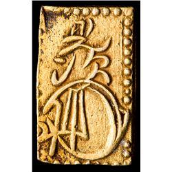 1868-69 Japan 2 Bu Shogunate Gold Coin