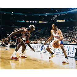 Allen Iverson Signed 76ers 16x20 Photo (JSA COA)