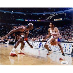 Allen Iverson Signed 76ers 8x10 Photo (JSA COA)