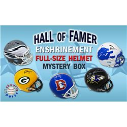 Football Hall of Famer Signed Full Size Helmet Enshrinement Mystery Box Series 3 (Limited to 75)