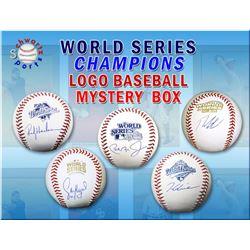 Schwartz Sports World Series Logo Signed Baseball Mystery Box Series 1 (Limited to 75)