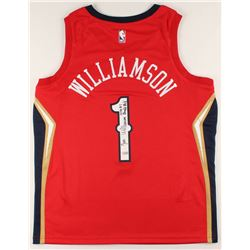 """Zion Williamson Signed Pelicans Authentic Nike Swingman Jersey Inscribed """"2019 #1 Draft Pick"""" (Fanat"""