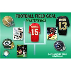 Schwartz Sports Football Field Goal Mystery Box - Series 1 (Limited to 100) (3 Autographed Items per