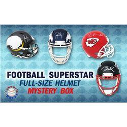 Schwartz Sports Football Superstar Signed Full Size Football Helmet Mystery Box – Series 9 (Limite