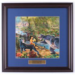 "Thomas Kinkade Walt Disney's ""The Jungle Book"" 18x18.5 Custom Framed Print Display"