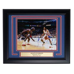 Allen Iverson Signed 76ers 11x14 Custom Framed Photo Display (JSA COA)