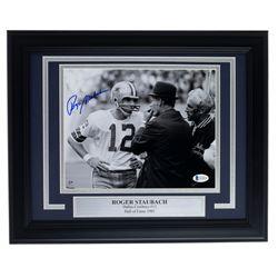 Roger Staubach Signed Cowboys 11x14 Custom Framed Photo Display (Beckett COA)