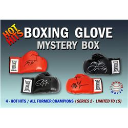 Schwartz Sports Hot Hits Boxing Champions Signed Boxing Glove Mystery Box – Series 2 (Limited to 1