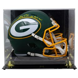 """Aaron Rodgers Signed Packers Full-Size AMP Alternate Speed Helmet Inscribed """"Go Packs Go!"""" with High"""