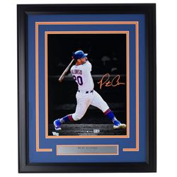 Pete Alonso Signed Mets 11x14 Custom Framed Photo Display (Fanatics Hologram  MLB Hologram)