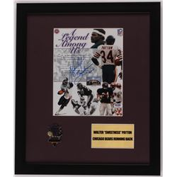 "Walter Payton Signed ""A Legend Among Us"" 16x19 Custom Framed Print Display Inscribed ""Sweetness 16,7"