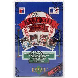 1989 Upper Deck Baseball Low # Wax Box (BBCE Certified)