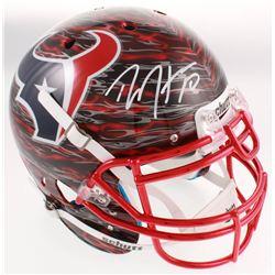 DeAndre Hopkins Signed Texans Full-Size Authentic On-Field Hydro Dipped Helmet (JSA COA)