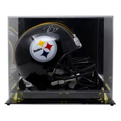 Minkah Fitzpatrick Signed Steelers Mini Helmet with High-Quality Display Case (Beckett COA)