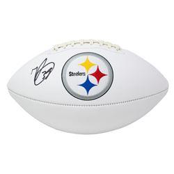 Minkah Fitzpatrick Signed Steelers Logo Football (Beckett COA)