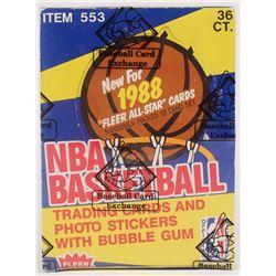 1988-89 Fleer Basketball Wax Box (BBCE Certified)