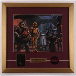 "Ralph McQuarrie ""Star Wars: Return of the Jedi"" 19x19.5 Custom Framed Print Display with 23 KT Gold"