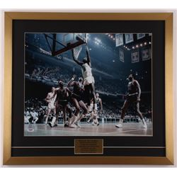 Bill Russell Signed Celtics 23x25.5 Custom Framed Photo Display (PSA Hologram)