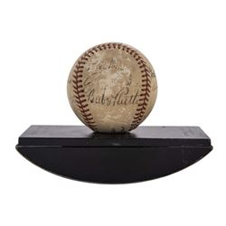 The Pride of the Yankees Baseball Cast-Signed by (9) with Babe Ruth, Eleanor Gehrig, Sam Wood, Walte
