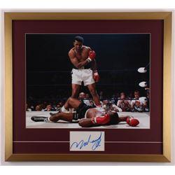 Muhammad Ali Signed 23x25.5 Custom Framed Cut Display (JSA LOA)