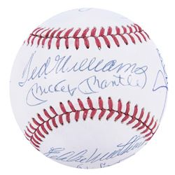 500 Home Run Club OAL Baseball Signed by (13) with Willie Mays, Mike Schmidt, Mickey Mantle, Ted Wil